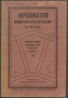 Informator Handlowo-Przemysłowy na Rok 1922.