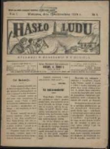 Hasło Ludu. R. 1, Nr 1 (1926)