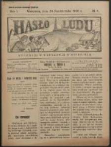 Hasło Ludu. R. 1, Nr 4 (1926)