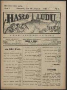 Hasło Ludu. R. 1, Nr 7 (1926)