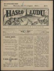 Hasło Ludu. R. 1, Nr 9 (1926)