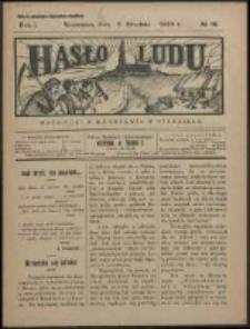 Hasło Ludu. R. 1, Nr 10 (1926)