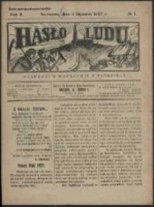 Hasło Ludu. R. 2, Nr 1 (1927)