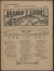 Hasło Ludu. R. 2, Nr 3 (1927)