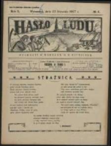 Hasło Ludu. R. 2, Nr 4 (1927)