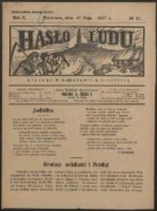 Hasło Ludu. R. 2, Nr 20 (1927)