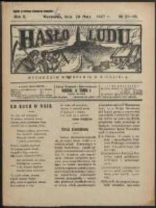 Hasło Ludu. R. 2, Nr 21/22 (1927)