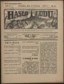 Hasło Ludu. R. 2, Nr 24 (1927)