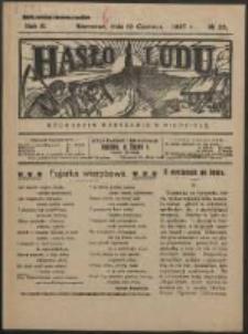 Hasło Ludu. R. 2, Nr 25 (1927)