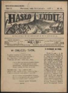 Hasło Ludu. R. 2, Nr 26 (1927)