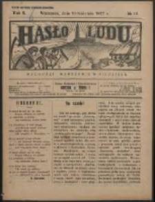 Hasło Ludu. R. 2, Nr 15 (1927)