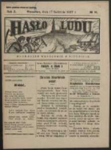 Hasło Ludu. R. 2, Nr 16 (1927)