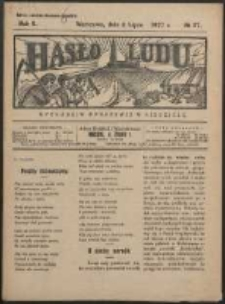 Hasło Ludu. R. 2, Nr 27 (1927)