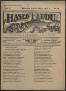 Hasło Ludu. R. 2, Nr 28 (1927)