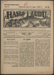 Hasło Ludu. R. 2, Nr 29 (1927)