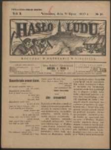 Hasło Ludu. R. 2, Nr 31 (1927)
