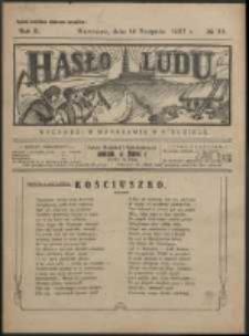 Hasło Ludu. R. 2, Nr 33 (1927)