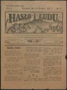 Hasło Ludu. R. 2, Nr 34 (1927)