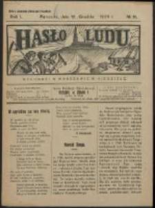 Hasło Ludu. R. 1, Nr 11 (1926)