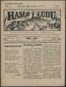 Hasło Ludu. R. 2, Nr 2 (1927)