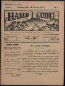 Hasło Ludu. R. 2, Nr 5 (1927)