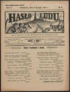 Hasło Ludu. R. 2, Nr 6 (1927)