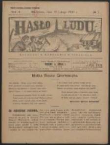 Hasło Ludu. R. 2, Nr 7 (1927)