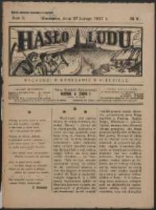 Hasło Ludu. R. 2, Nr 9 (1927)