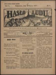 Hasło Ludu. R. 2, Nr 11 (1927)