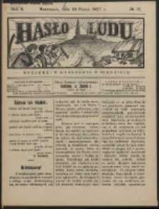 Hasło Ludu. R. 2, Nr 12 (1927)