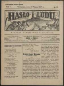 Hasło Ludu. R. 2, Nr 13 (1927)