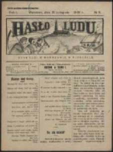 Hasło Ludu. R. 1, Nr 8 (1926)