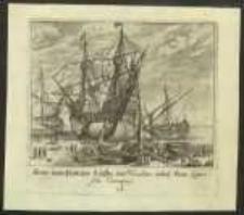 Arten underschidsicher Schiffen und Vasellen dabeÿ Eine Spanische Caraque [Dokument ikonograficzny] / [J. W. Baur inv. ; Melchior Küsell fecit]