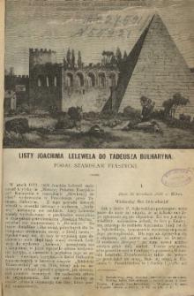 Listy Joachima Lelewela do Tadeusza Bułharyna / podał Stanisław Ptaszycki.