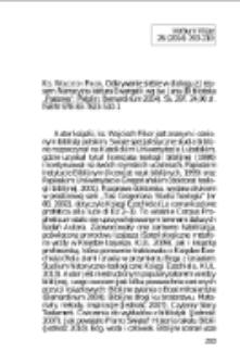 """Ks. Wojciech Pikor, Odkrywanie siebie w dialogu z Jezusem. Narracyjna lektura ewangelii wg św. Jana (Biblioteka """"Pastores""""; Pelplin: Bernardinum 2014). Ss. 297. 24,90 zł. ISBN 978-83-7823-510-1."""