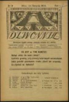 Dzwonnik. R. 1, Nr 9 (1924)