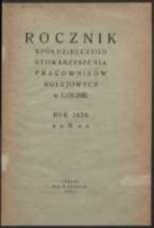 Rocznik Spółdzielczego Stowarzyszenia Pracowników Kolejowych w Lublinie. R. 2 (1920)