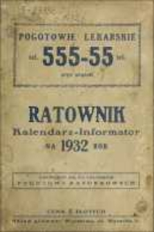 Ratownik : kalendarz-informator na 1932 rok.