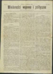 Wiadomości Wojenne i Polityczne nr 33 (1904)