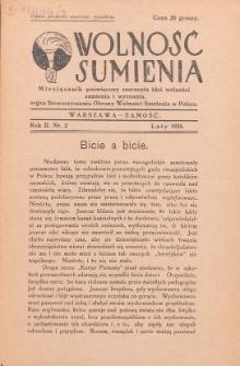 Wolność Sumienia. R. 2, Nr 2 (1935)