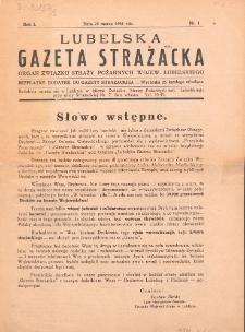 Lubelska Gazeta Strażacka. R. 1, Nr 1 (1931)