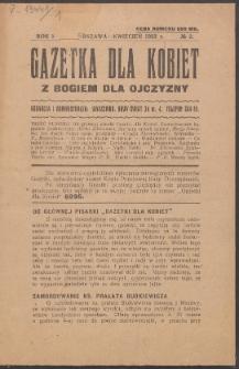 Gazetka dla Kobiet. R.1, No 2 (1923)