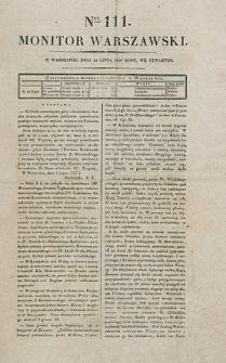 Monitor Warszawski. Nr 111 (1827)