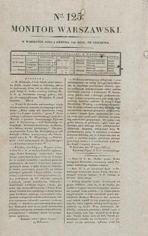 Monitor Warszawski. Nr 125 (1827)