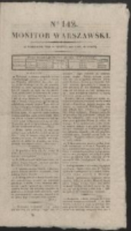 Monitor Warszawski. Nr 142 (1827)