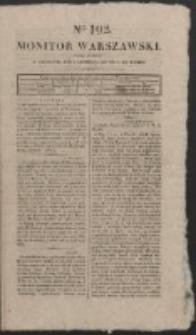 Monitor Warszawski. Nr 192 (1827)