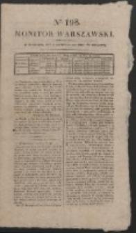 Monitor Warszawski. Nr 198 (1827)