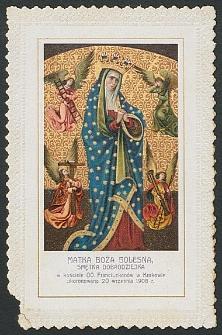 Matka Boża Bolesna, Smętna Dobrodziejka : w kościele OO. Franciszkanów w Krakowie ukoronowana 20 września 1908 r. [Dokument ikonograficzny]