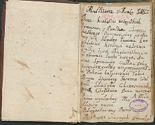 Zbawki albo Akty przy Całodziennych Sprawach. dla ćwiczenia duchowego. przes czas nowicyiatu na całe życie bardzo pożyteczne. Przepisane roku 1767