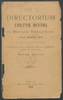 Directorium Horarum Canonicarum et Sacrarum Missarum ad usum Dioecesis Tiraspolensis pro Anno Domini 1919